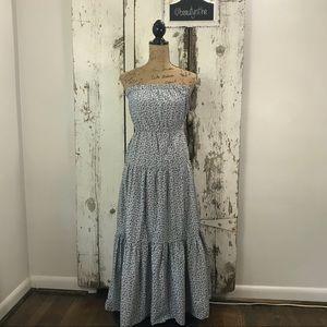 Gap strapless floral maxi dress